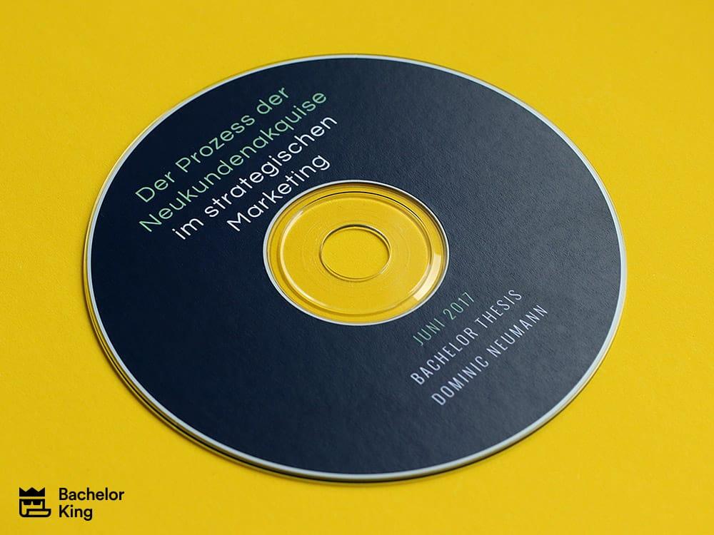 Klebebindung mit Klarsichtfolie - CD Labeldruck / CD-Daten brennen