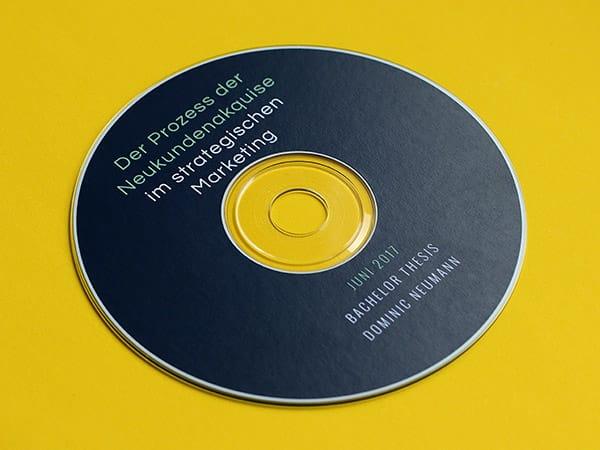 Softcover Design - CD Labeldruck / CD-Daten brennen