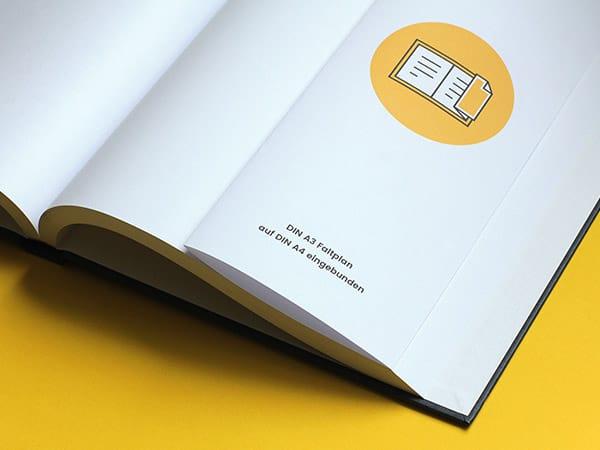 Hardcover Design - Faltpläne